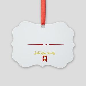 Calgary Script B Picture Ornament