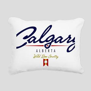 Calgary Script W Rectangular Canvas Pillow