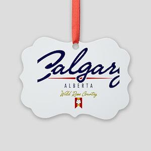 Calgary Script W Picture Ornament