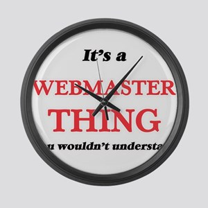 It's and Webmaster thing, you Large Wall Clock