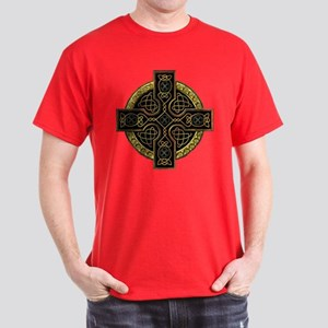 Irish Gold Ornate Cross Dark T-Shirt