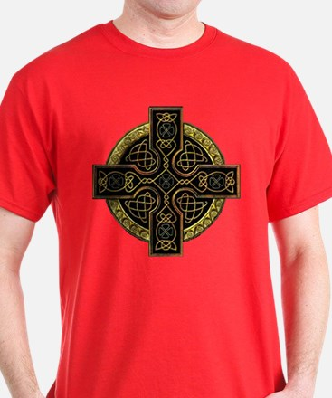 Irish Gold Ornate Cross T-Shirt