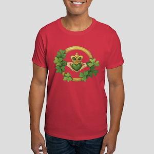 Irish Claddagh & Shamrocks Dark T-Shirt