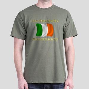 My Irish Lover (Gaelic) Tricolor Dark T-Shirt