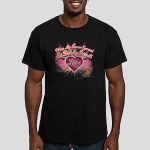 Friends Love 12 Men's Fitted T-Shirt (dark)