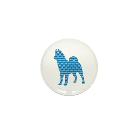 Bone Akita Mini Button (10 pack)