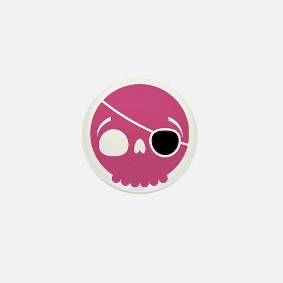 pirate-skull-pink Mini Button