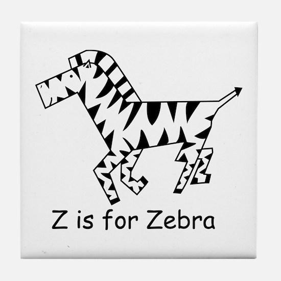 Z is for Zebra Tile Coaster