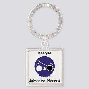 shiver-me-diapers-blue Square Keychain