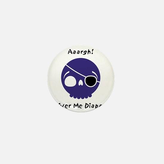 shiver-me-diapers-blue Mini Button
