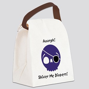 shiver-me-diapers-blue Canvas Lunch Bag