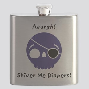 shiver-me-diapers-blue Flask