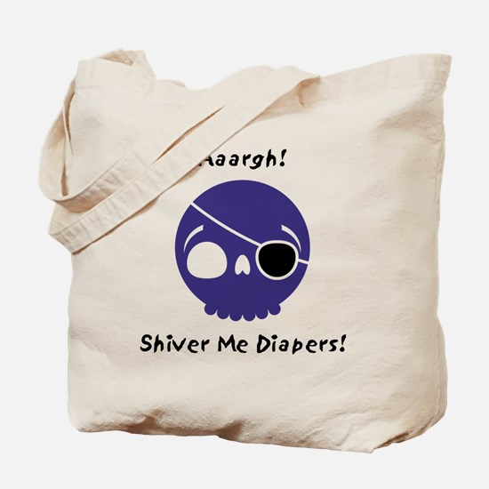 shiver-me-diapers-blue Tote Bag