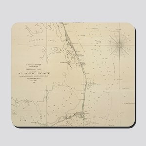 Vintage North Carolina and Virginia Coas Mousepad
