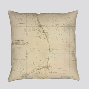 Vintage North Carolina and Virgini Everyday Pillow