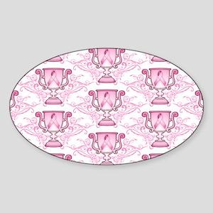 BCSurvTrophyPtrBeBag Sticker (Oval)