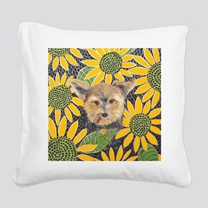 SQLite Morkie Square Canvas Pillow