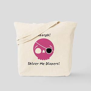 shiver-me-diapers-pink Tote Bag