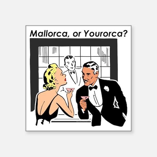 """mallorca-bow Square Sticker 3"""" x 3"""""""
