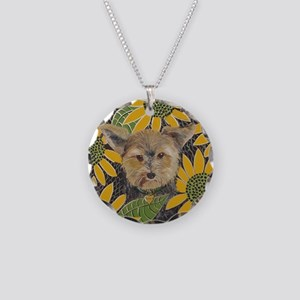 Mouse Morkie Necklace Circle Charm