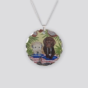 8x10 FoodEats Necklace Circle Charm
