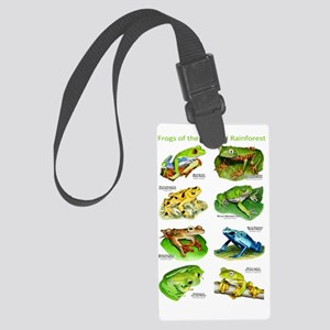 Frogs of the Tropical Rainforest Large Luggage Tag