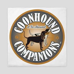 Coonhound-Companion-logo Queen Duvet