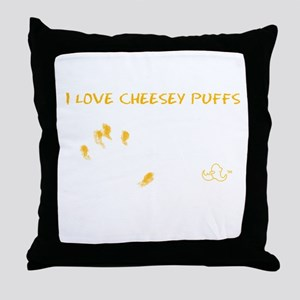 Cheesy Puffs Throw Pillow