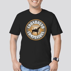 Coonhound-Companion-lo Men's Fitted T-Shirt (dark)