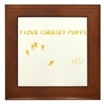 Cheesy Puffs Framed Tile