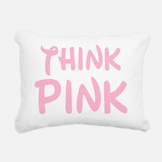 think pink wally Rectangular Canvas Pillow