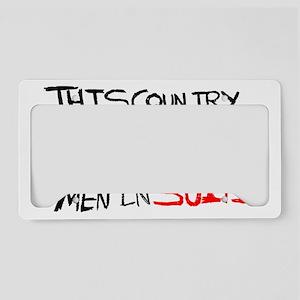 MEN IN SUITS2 License Plate Holder
