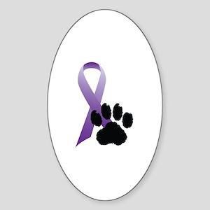Animal Cruelty Awareness Oval Sticker