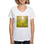 Aspen Trail Deer Women's V-Neck T-Shirt