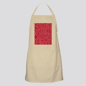basset_small_print_red_white Apron