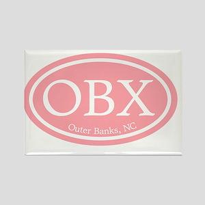 Outer Banks.OBX.MattAntique.pink Rectangle Magnet