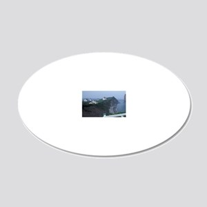 Perce. Land's Endnada, Quebe 20x12 Oval Wall Decal