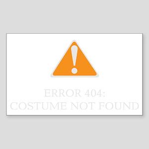 Error 404 Costume dark Sticker (Rectangle)