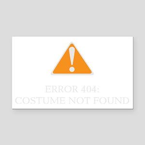 Error 404 Costume dark Rectangle Car Magnet