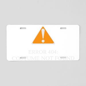 Error 404 Costume dark Aluminum License Plate
