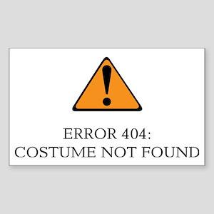 Error 404 Costume light Sticker (Rectangle)