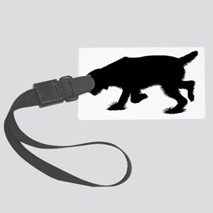 Hunting Spinone Sillhouette Large Luggage Tag