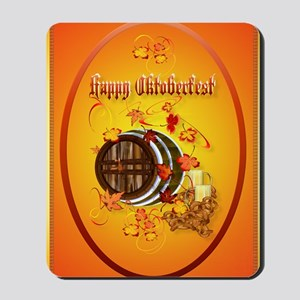 ornament_oval Big Beer-Happy Oktoberfest Mousepad