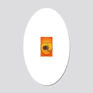 ornament_oval Big Beer-Happy 20x12 Oval Wall Decal