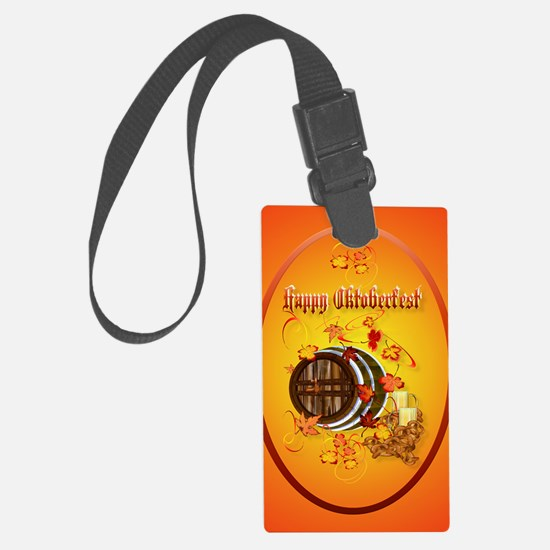ornament_oval Big Beer-Happy Okt Luggage Tag