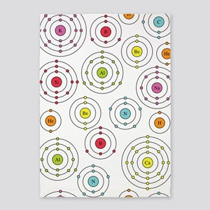 periodic shells fabric 5'x7'Area Rug