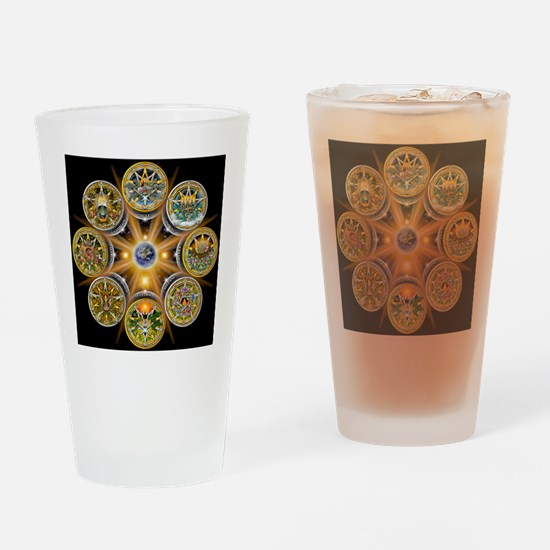 Witches Wheel of the Year Drinking Glass