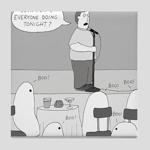 Ghost Comedian Tile Coaster