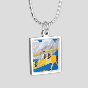 SQLite FlightCrew Silver Square Necklace