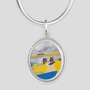 SQLite FlightCrew Silver Oval Necklace